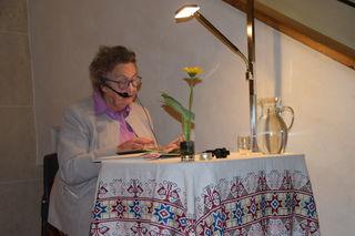 Trude Krismer gab ihre Gedichte zum Besten.