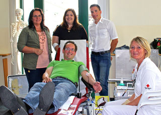 Andreas Minnich ist lang gedienter Blutspender.