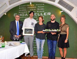 August Teufl, Fotograf Andreas Kaufmann, Chefin Alexandra Labenbacher-Konecny, Koch David Köhler und Modedesignerin Julia Neubauer.