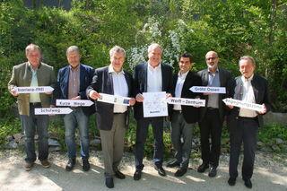 Zusammenarbeit: Schöber (Leitzersdorf), Muck (Sierndorf), Laab (Stockerau), Haller (Sprecher LEADER-Region Weinviertel Donauraum), Gepp (Korneuburg), Waygand (Langenzersdorf) und Weiß (Hausleiten).