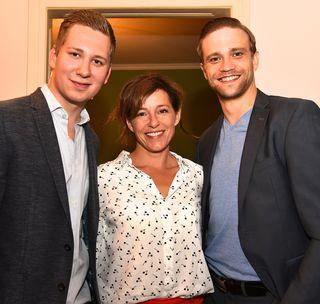 In Partylaune: Clemens Trischler, Julia Cencig und Michael Steinocher (v.l.).