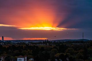 ein herrlicher Sonnenaufgang, nach einer Gewitternacht.....