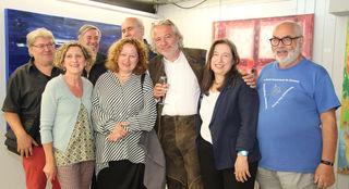 Personen von links nach rechts: (vorne) GGR. Elisabeth Zottl-Paulischin, Katharina Prantl, Christian Kvasnicka, Johanna Horny, Roland Horvath (hinten) Julian Taupe, Kurt Weckel, Wolfgang Sinwel