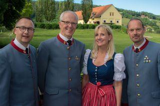 Der Musikverein Gestüt Piber lud zum Schlosskonzert in den Schlosshof ein.