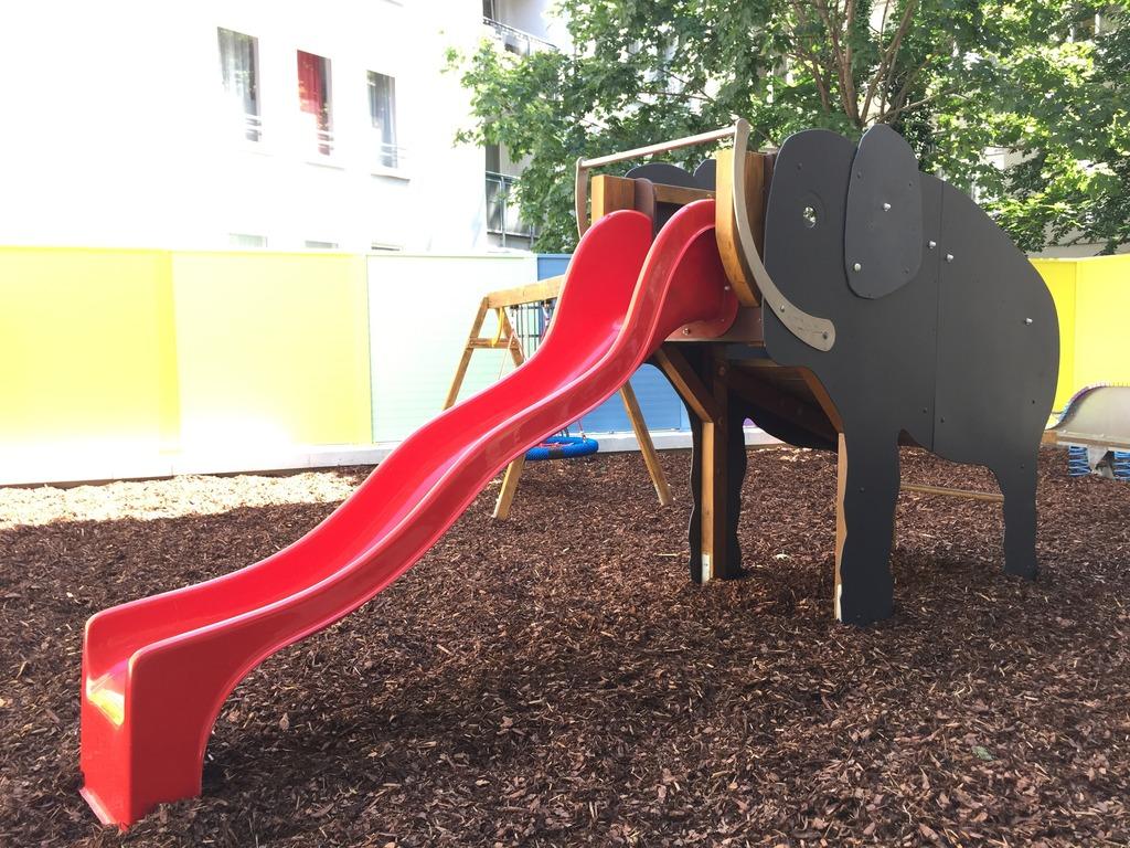 Ein Regenbogen und ein Elefant - was will man mehr?
