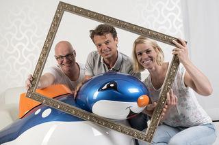 Blue-Circus-Team: Harald Pessler (l.), Michael Zacek und Jördis Steinegger