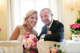 Haben geheiratet: Christina und Wilfried Haslauer