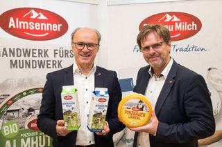 Die beiden Pinzgaumilch-Geschäftsführer Hans Steiner und Hannes Wilhelmstätter