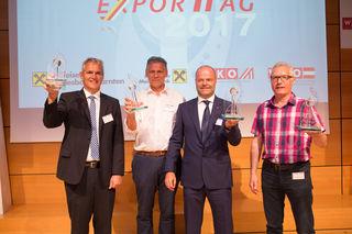 Siegreiches Exportquartett: Klaus Schöffmann, Werner Kruschitz, Bernd Hauptmann und Johann Čertov (v.l.)