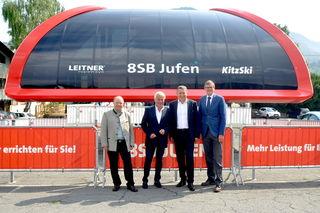 Walter Astl, Josef Burger, Martin Leitner und Klaus Winkler präsentierten die neue Jufen-Bahn.