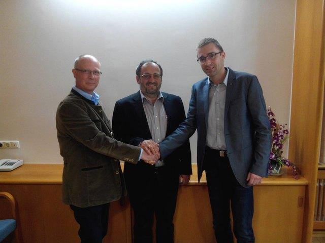 Amtsübergabe (von links): Johann Tichler, Johannes Hinterreither-Kern und Roland Haslhofer.