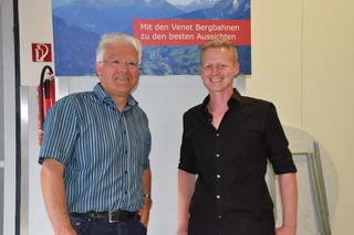 Bgm. Siggi Geiger und LG-Obmann Mathias Weinseisen beim 13. Mitarbeiterfest.