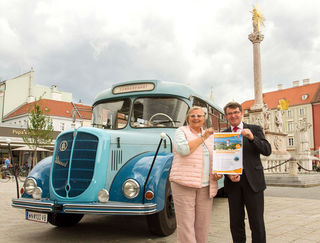 Freuen sich auf ihre Tour: Evamaria Sluka-Grabner und Franz Piribauer.