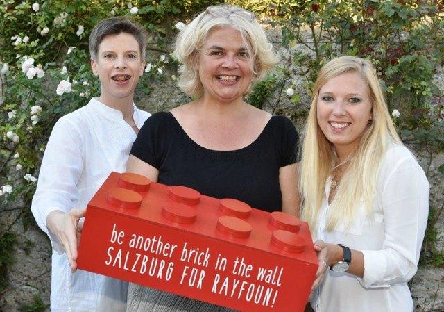Frauenbeauftragte Alexandra Schmidt, Vizebürgermeisterin Anja Hagenauer und Projektmitarbeiterin Susanne Grashoff.