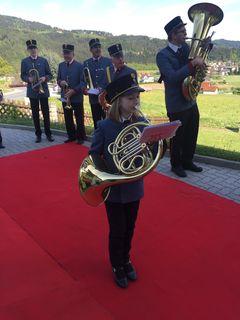 Die junge Franziska Gspurning ist am Horn ein Ausnahmetalent.