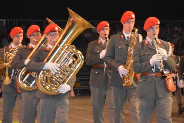 Die Gardemusik aus Wien erntete wie die übrigen Militärmusiken viel Applaus.