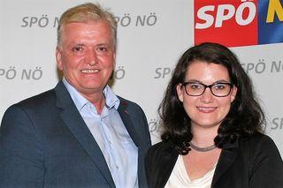 Franz Schnabl gratulierte Melanie Erasim als erstes.