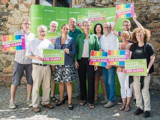 In Mautern mit dabei war auch eine Delegation der Grünen Tulln – Ulrike Fischer (Mitte).