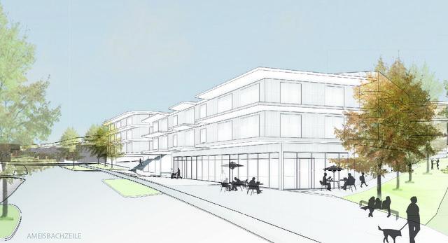Ameisbachzeile: So hätte der Supermarkt dort aussehen sollen. Gebaut wird er nach der Befragung aber nicht.