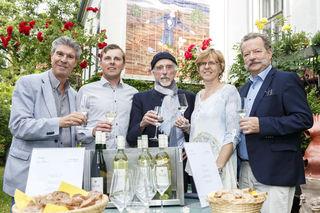 Franz Müllner, Matthias Bauer, Arik Brauer, Martina Bauer, & Frank Bläuel