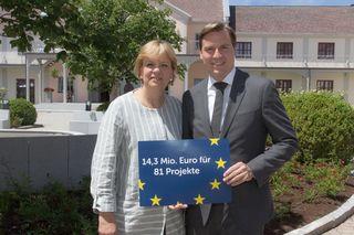 Europalandesrätin Barbara Schwarz mit LAbg. Christoph Kaufmann