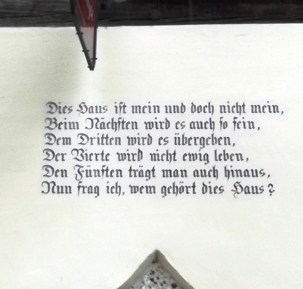 Schöner Spruch Am Alten Haus Horn