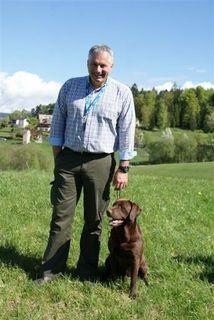 Peter Isopp mit seinem Deckrüden Richbert vom Waldschratt