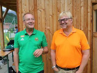 Rapids Sportdirektor Bickel (li.) mit Horst Dilly.