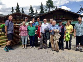 Eine der Wandergruppen vom Seniorenbund Koglhof