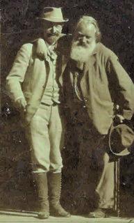 Johannes Brahms & Victor von Miller zu Aichholz, Gmunden 1894.