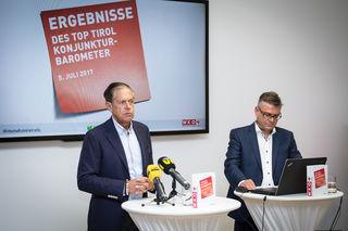 Erfreuliche Aussichten: Jürgen Bodenseer und Stefan Garbislander