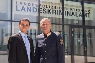 Schwechats Polizei-Vize Omar Haijawi-Pirchner übernimmt Chefposten von  Franz Polzer in St. Pölten.
