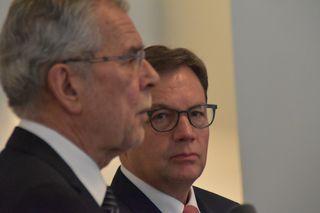 Bundespräsident Alexander van der Bellen bei LH Günther Platter