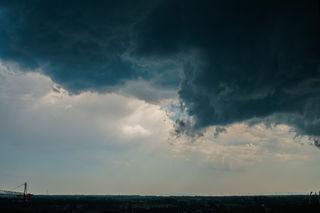Mit diesem Wolkenbild hat sich das Unwetter angekündigt.