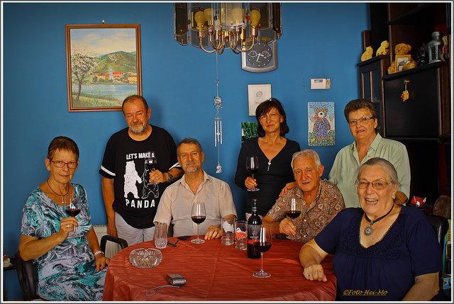 von links: Poldi Lembke, Heinrich Moser, Mario Garlant, Christa Posch, Werner Maldet, Petra Maldet und Lilo Fleck.