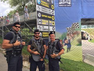 Die Polizei war stets präsent. Foto: MZ/Pfister