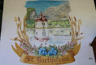Wandbild in Schönau Wallfahrtskirche St. Bartholomä