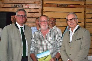 Lagerhaus Obmann Ing. Rohringer, der pensionierte Agrar-Spartenleiter Ganzberger sowie RWA-Personalchef Mag. Raunig