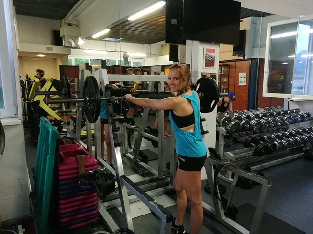 Tamara Humer ist auch beim eigenen Training sehr engagiert.