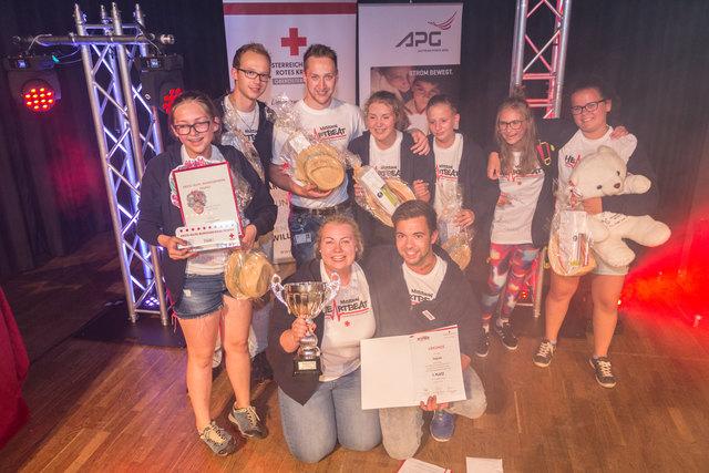 Die Bundessieger der Altersklasse Jugend 1., das Team Impuls aus St. Michael.