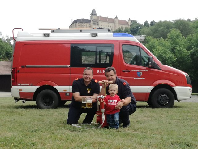 Kommandant Roland Mailer, Kommandant Stv. Günter Fettinger und Luca Matteo Sindelir