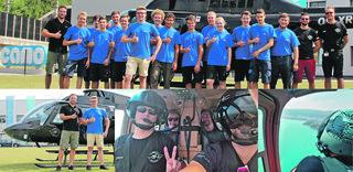 Neu ab Sommer 2017: Hubschrauberflüge für Lehrlinge mit besonderen Leistungen. Ein Highlight im Prämienkatalog der Firma Camo.