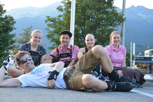 Sophie, Valentin, Laura, Sophia und Martin genossen die tolle Stimmung bei der Warm up-Party.