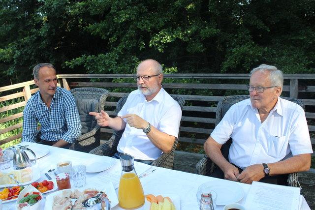 Pressekonferenz der Lions im Gasthaus Badhaus (v. l.): Herbert Karer, Fritz Egger und Herbert John
