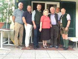 Eine Delegation der OÖVP St. Wolfgang gratulierte Paul Stadler zu dessen Geburtstag.