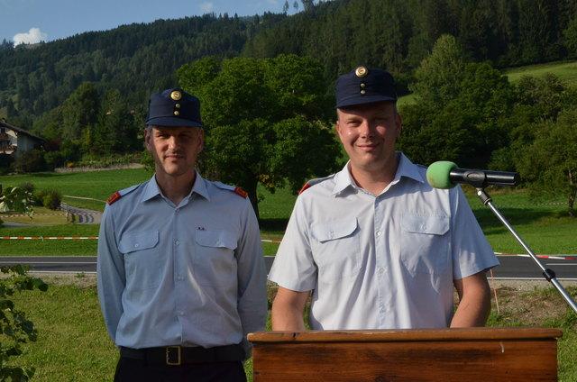 Kommandant Christian Kollmitzer (re.) und Vize Martin Ruß