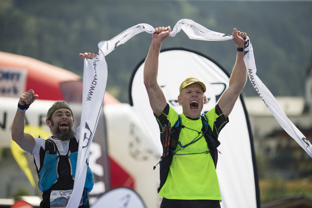 Die Großglockner Ultra Trail-Sieger: Gerald Fister und Klaus Gösweiner.
