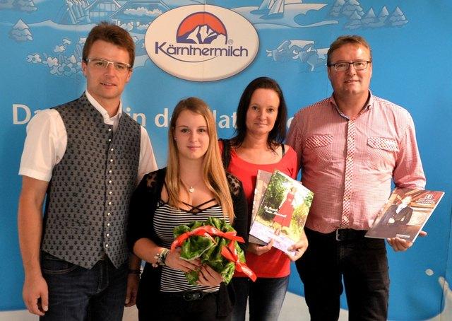 Max Strohmaier mit Janine und Karin Hoinig sowie Sepp Kerschbaumer