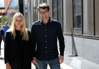 PhD-Studentin Lena Tschiderer un Studienautor Peter Willeit.