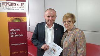 SWV Bezirksobmann Dr. Robert Porod mit der Vizepräsidentin der HHÖ Angelika Widhalm.